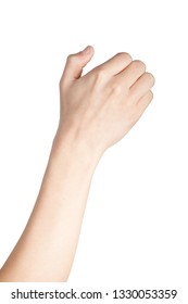 Caucasian hand doing British Sign Language  showing the symbol for 6