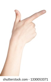 Caucasian hand doing British Sign Language  showing the symbol for 7