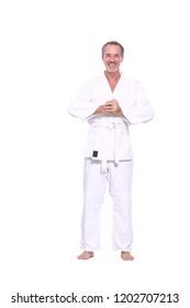 Caucasian judoka man