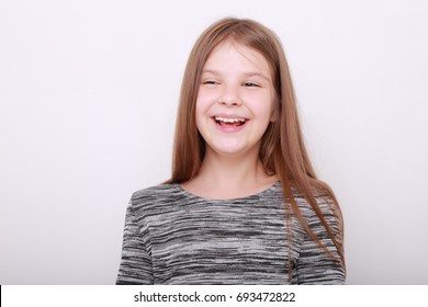 Caucasian kid studio portrait