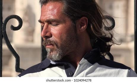 Caucasian Male Alone