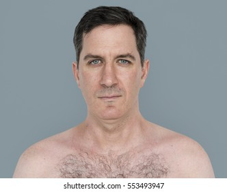 Caucasian Man Bare Chested Shoot