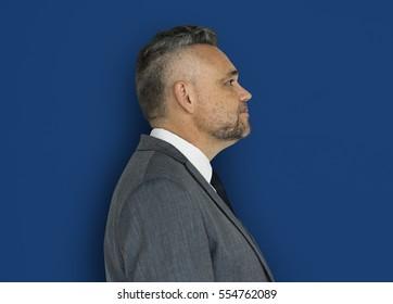 Caucasian Man Side View Business Wear