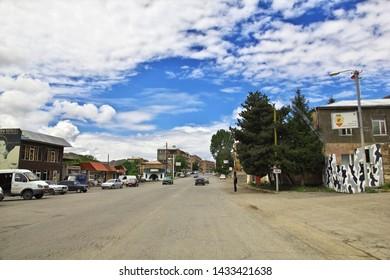 Caucasus / Armenia 10 MAY 2013: The village in the mountains of the Caucasus, Armenia