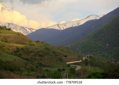 Caucasus mountains, canyon of Argun. Chechnya Russia