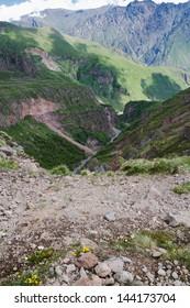 Caucasus Mountains near Kasbegi, Georgia