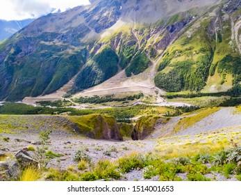 Caucasus near Elbrus Mountains Paths