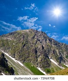 caucazian mountain landscape