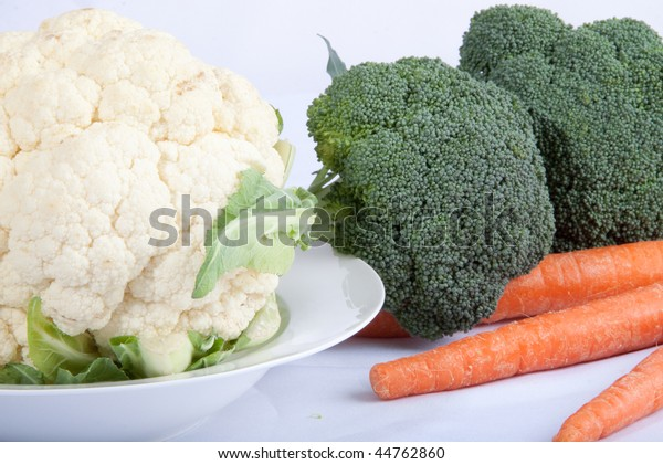 Cauliflower, Carrots and Broccoli, vegetables