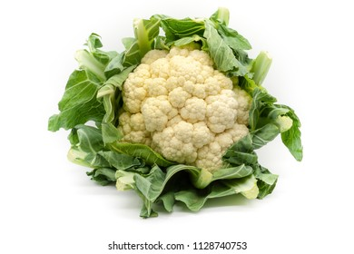a cauliflower fresh from the field