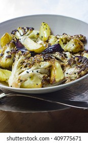 Cauliflower and potatoes fried with black cumin