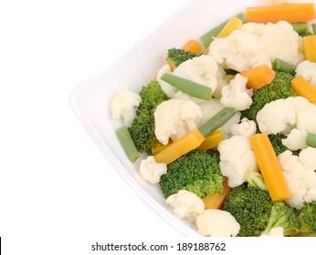 Cauliflower salad. Close up. Macro. Whole background.