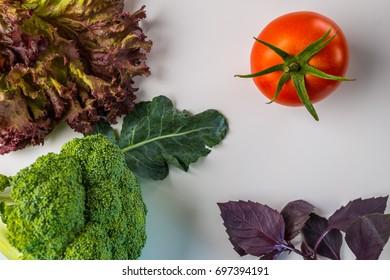 Cauliflower with tomato.