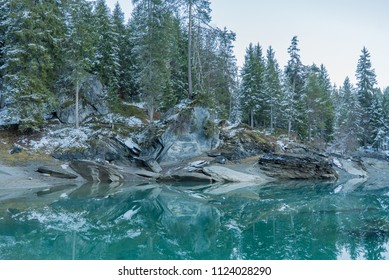 Caumasee Flims in Switzerland