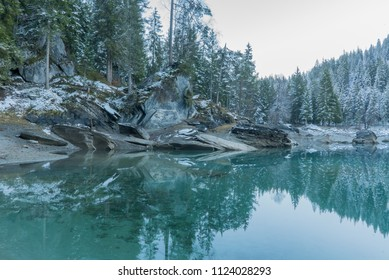 Caumasee Flims in Switzerland