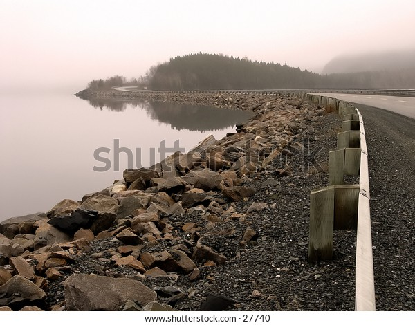 Causeway in Newfoundland on a summer morning