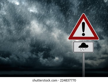 Caution - Heavy Rain Symbol