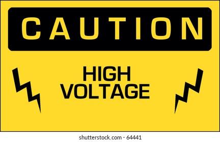 Caution high voltage