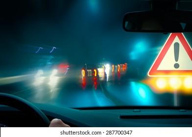 Caution - Night Driving