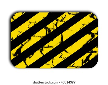 Caution plate with lines black over background yellow