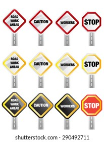 Caution - Road Sign Stock Image as JPG File
