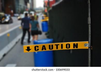 Caution Sign, Chicago, USA