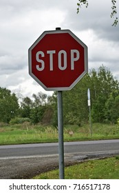 Caution stop sign