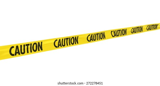 CAUTION Tape at Angle