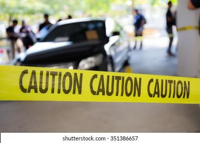 caution tape  for crime scene