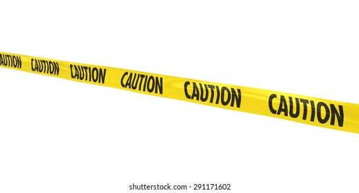 CAUTION Tape Line at Angle