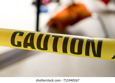 caution tape police evidence line investigation violence safety yellow cross warning law