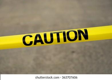 caution warning strip