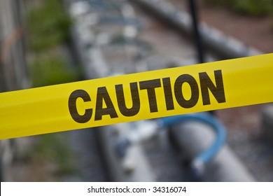 Caution - yellow tape