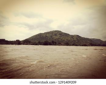 Cauvery River flowing mitigating thirst of millions of Kannada people. Kannada Nadina Jeevanadi Cauvery...!