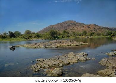 Cauvery River water body near Shivasamudram Falls