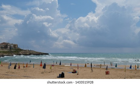Cava d'Aliga, commune of Scicli, province of Ragusa. The storm is gone and the beach is ready to receive the people again.
