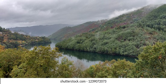 Cavado river in Gerez landscape, Portugal.