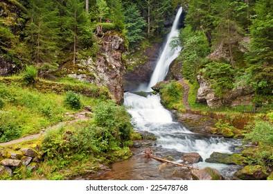 Cavalese waterfall, Trentino, Italy