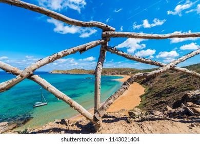 Cavalleria beach in Minorca, Balearic Islands, Spain.