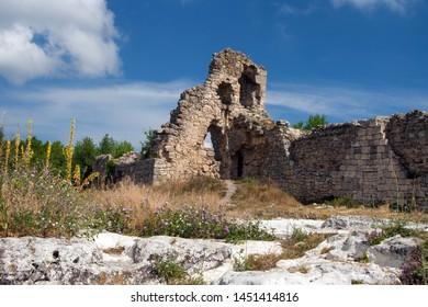 Cave ancient city Mangup-Kale, Crimea, Russia
