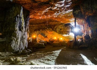 Cave backlit