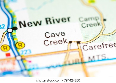 Cave Creek. Arizona. USA on a map