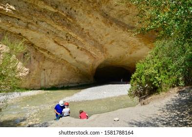 The cave in Cueva de Picamartillo, in Alquezar, spain