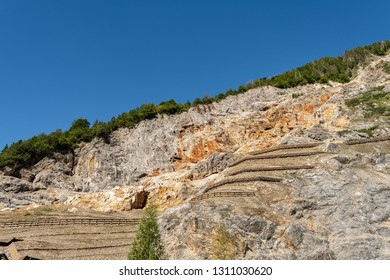 Cave del Predil. Ancient lead and zinc mine near Tarvisio, Udine, Friuli Venezia Giulia, Italy, Europe