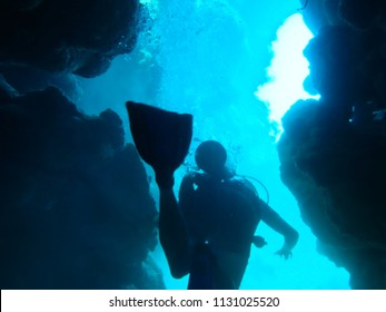 Cave Diving in the Great Barrier Reef, Australia