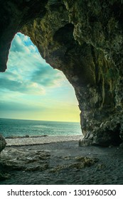 The cave of Fiumicello at Maratea, Basilicata region, Italy
