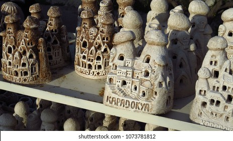 Cave house-style souvenirs from Cappadocia. / Cappadocia is a historical region in Central Anatolia. The region is home to one of the most spectacular landscapes in the world: thousands of 4000 year o