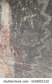 Cave paintings in semiarid desert