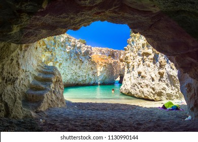 Cave of Papafragas Milos, Cyclades Greece