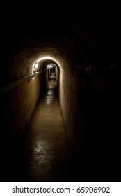 cave in a underground city near Sevastopol town